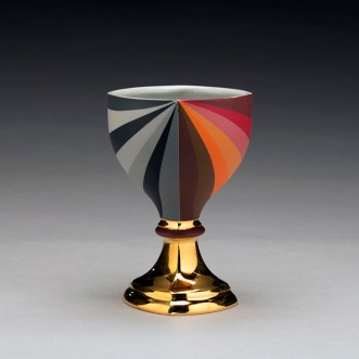 "Peter Pincus, ""Berry's Bowl 5"" 2019, colored porcelain, 6 x 4 x 4""."