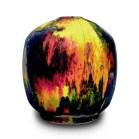"Robert Silverman, ""Untitled Vase"", 2021, glazed porcelain, 8 x 8.5 x 8.5"""