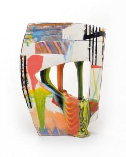 "Lauren Mabry, ""Glazescape 20.03"", 2020, earthenware, slip, glaze, 12.5 x 9 x 3.5"", view 4."