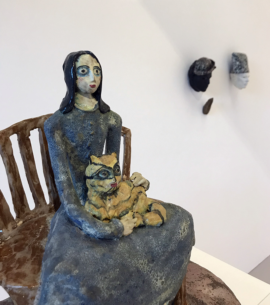 """""""The Women"""" at Ferrin Contemporary in North Adams, MA. Work by Beatrice Wood pictured."""