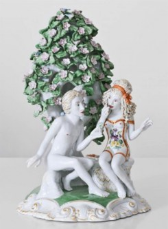 """Chris Antemann, """"Pursuit of Love"""" 2013, porcelain."""