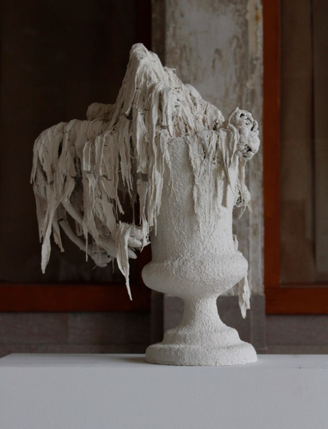 "Kate Roberts, ""Miss Havisham's Beauty"", 2015, porcelain, 18 x 12 x 12""."