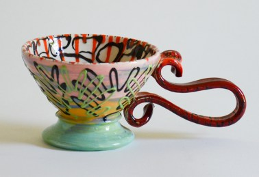 "Phillip Maberry, ""Cup"" porcelain, 10 x 4 x 6""."