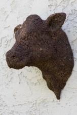 "Elliot Kayser, ""Golem Study 2"", 2020, terracotta, engobe, wild clay, 14 x 14 x 14""."