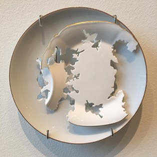 "Elizabeth Alexander, ""Royal Crown Derby"" 2015, porcelain, 6.5 x 6.5 x 5""."