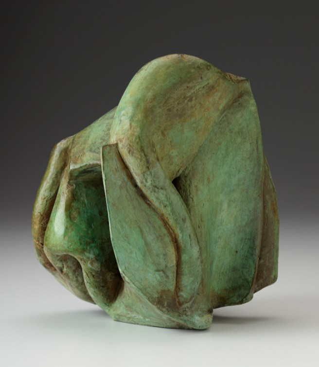 "Malcolm Wright, ""Heart Muscle"", 2009, bronze, 8 x 6.75 x 6.25""."