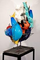 """Raymond Elozua, """"R&D VII, RE-17-1"""" 2014, 04 ceramic, glaze, steel, glass, 38 x 23 x 43"""""""