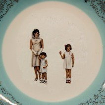 Hollie, Lyko, 2018, dremel-erased JFK & Family collectible plate, circa 1961