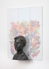 "Cristina Córdova, ""Cabeza V"" 2018, ceramic, 24.5 x 30.5 x 8""."