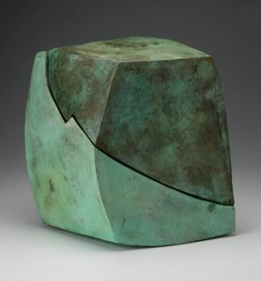 """Malcolm Wright, """"Diptych"""", 2009, bronze, 16 x 14 x 12""""."""