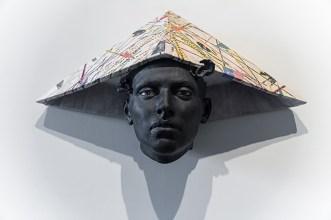 "Cristina Córdova, ""Cabeza I"" 2019, ceramic, 16 x 29.5 x 9""."