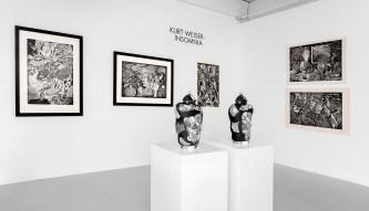 """Kurt Weiser, """"Insomnia"""", 2019, installation view, Ferrin Contemporary."""