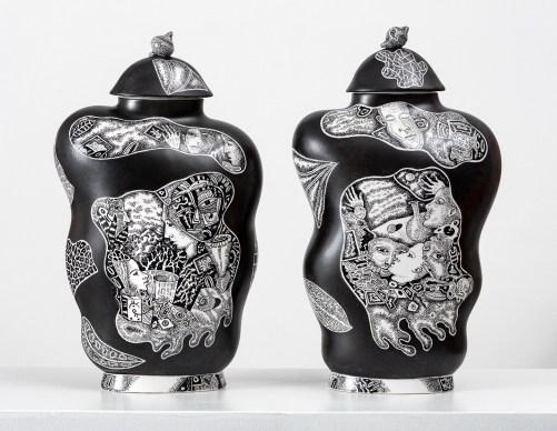 Kurt Weiser Black and White Vase 1 & 2 2019 13