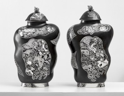 "Kurt Weiser, ""Black and White Vase 1 & 2"", 2019"