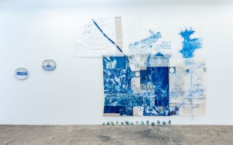 Paul Scott & Fran Siegel recent works featured in Seam & Transfer at Wilding Cran Gallery