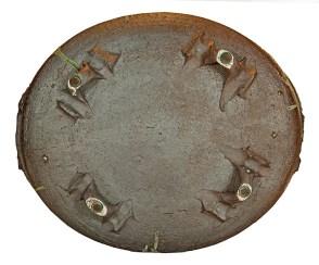 "Ken Ferguson, ""Hare Basket"", c. 1990, stoneware, glaze, 14 x 16.5 x 16.5""."