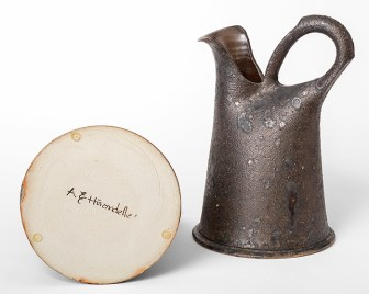 "Anne Hirondelle, ""Set of Pitchers"", 1991, stoneware, glaze, 15.5 x 9.25 x 9.25""."