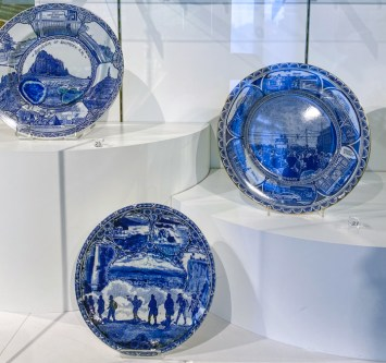Detail, Souvenir Wares, 'New American Scenery' at the Bowes Museum, Barnard Castle County Durham, UK, September 26, 2020 – January 9, 2022