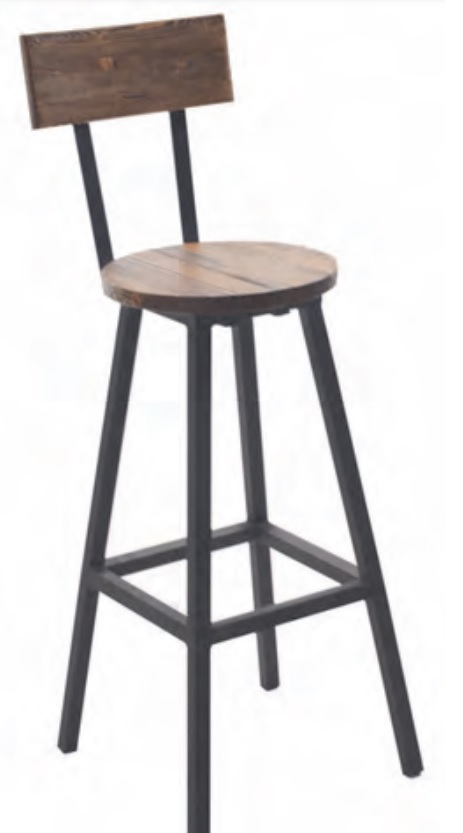 Sgabello in legno con schienale sgabello regolabile con seduta e