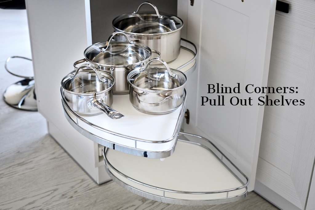blind corners pullout shelving to utilize dead space