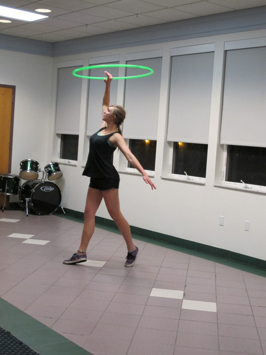 """Irma Collins performing """"Manifestation"""" - Photo Courtesy of the Honors Program at Ferris State University"""