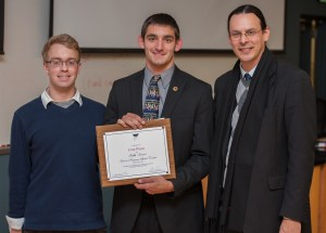 First Place Winner Connor Pilmore - Honors Speech Contest - Photo courtesy of FSU SmugMug