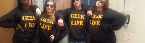 Honors Students in Geek Life Apparel. Courtesy of photographer with permission from Honors student, Jordan Dawkins
