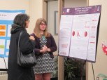 Haylee Luedtke explains her poster. Courtesy of the photographer.