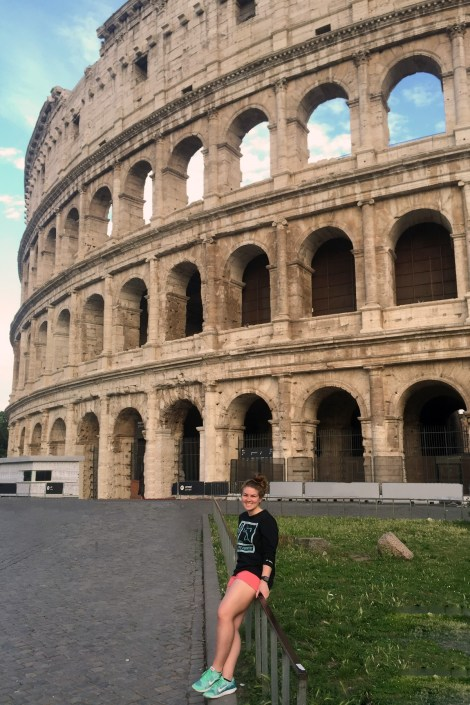 Abbigael VanDusen in front of Colosseum in Rome, Italy, Photo courtesy of Abbigael VanDusen.