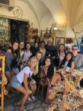 Ferris student group at market in Italy. Courtesy of Honors student, Arianna Lozano.