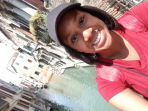 Jordan Dawkins in Venice, Italy. Courtesy of Honors student, Jordan Dawkins.