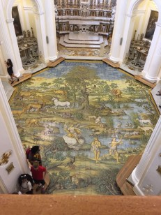 Painted floor in Italy. Courtesy of Honors student, Jordan Dawkins.