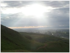 Arthur's Seat, Photo by Kathryn Wilson, used with permission by the Honors Program at Ferris State