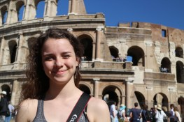 Madison in Rome. Courtesy of Ferris State University Honors Student, Madison Osgood.