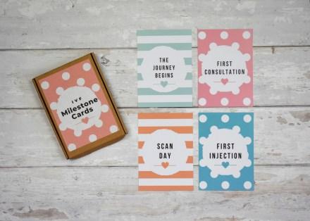 IVF Milestone Cards - Spots & Stripes Pastel