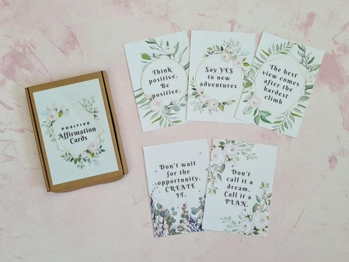 Positive affirmation cards - floral