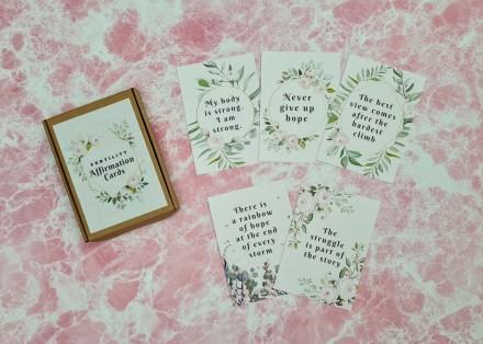 Fertility affirmation cards - floral