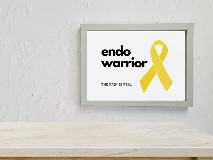 Endometriosis prints - endo warrior