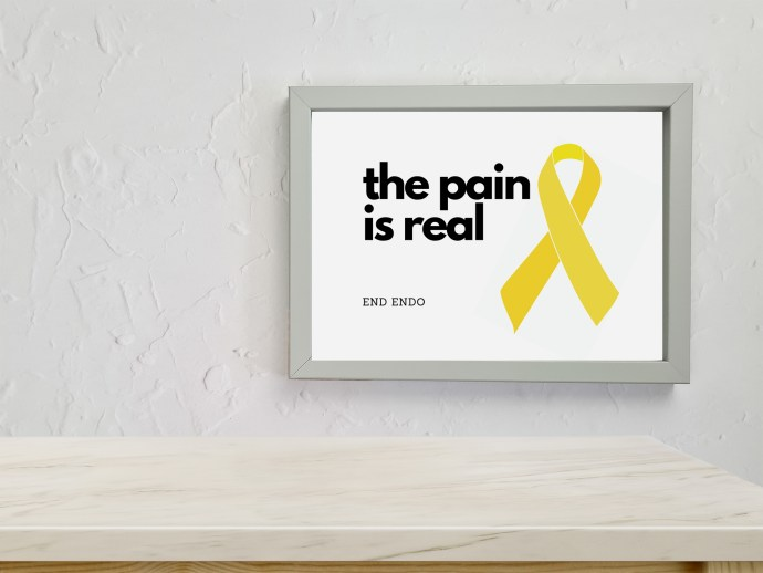 Endometriosis prints - the pain is real