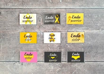 Endometriosis fridge magnets - 70mm x 45mm
