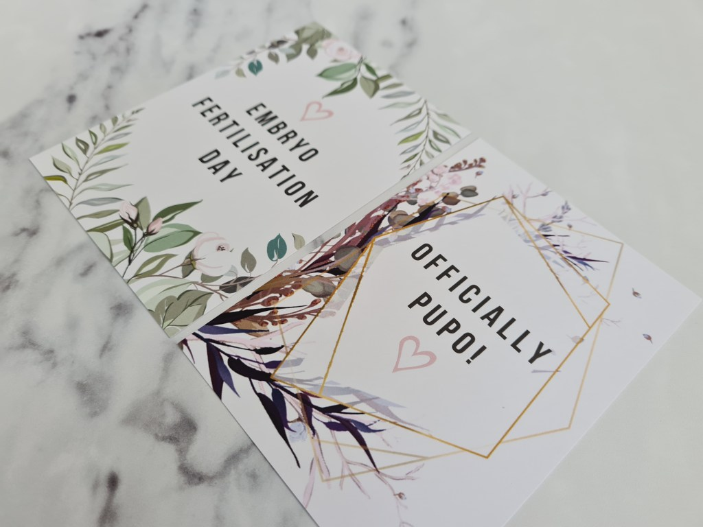 IVF Milestone Cards - Floral Edition