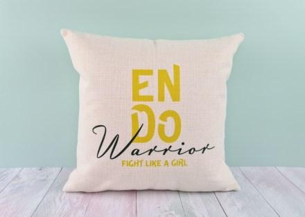 Endometriosis cushion cover - linen-look