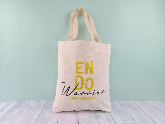 Endometriosis tote bag - linen-look