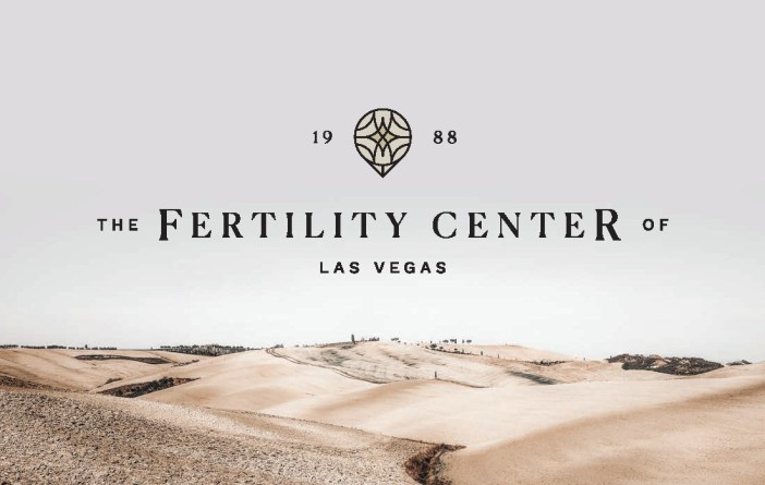 Fertility Center of Las Vegas Logo on Desert Background