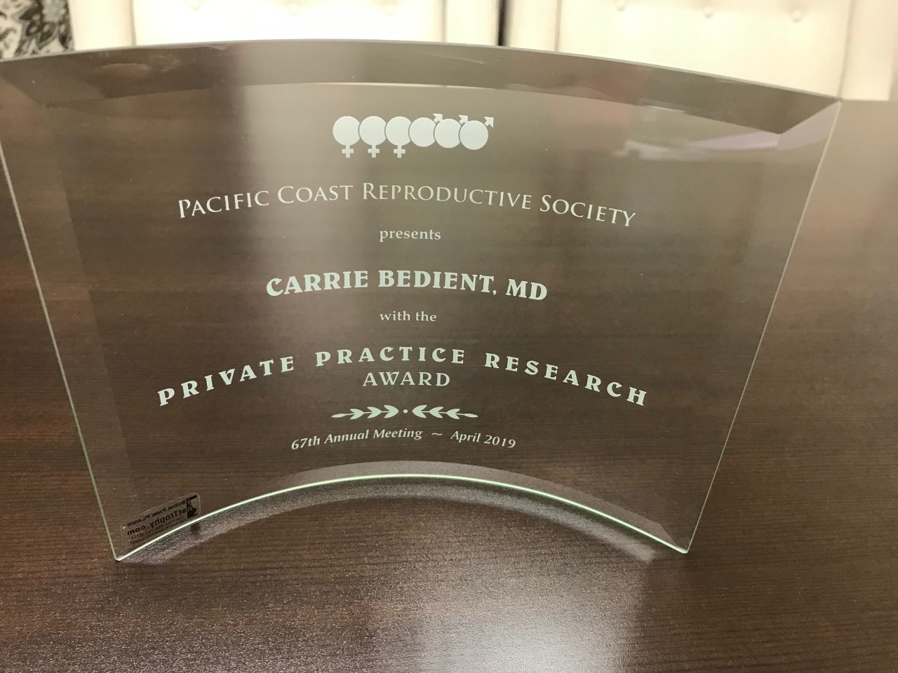 We are the 2019 PCRS Private Practice Research Award winner