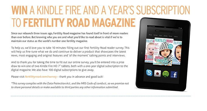 Fertility Road Magazine 2014 Reader Survey