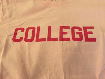 "Yes I still have one (from said reps) and it is pink and says ""COLLEGE"" across the chest."