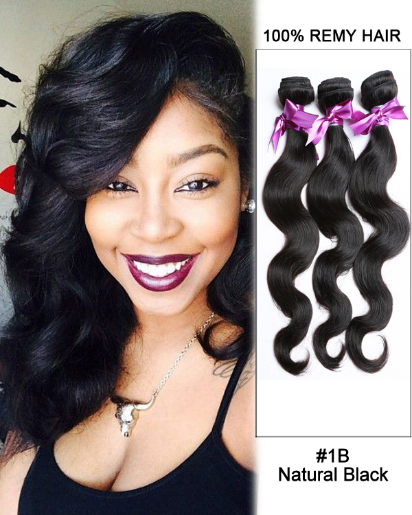"12 14 16 Inch Sew In Body Wave : FESHFEN, 16"", Natural, Black, Weave, Brazilian, Virgin, Human, Extensions"