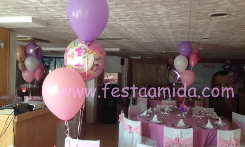 Decoracin con globos para fiestas