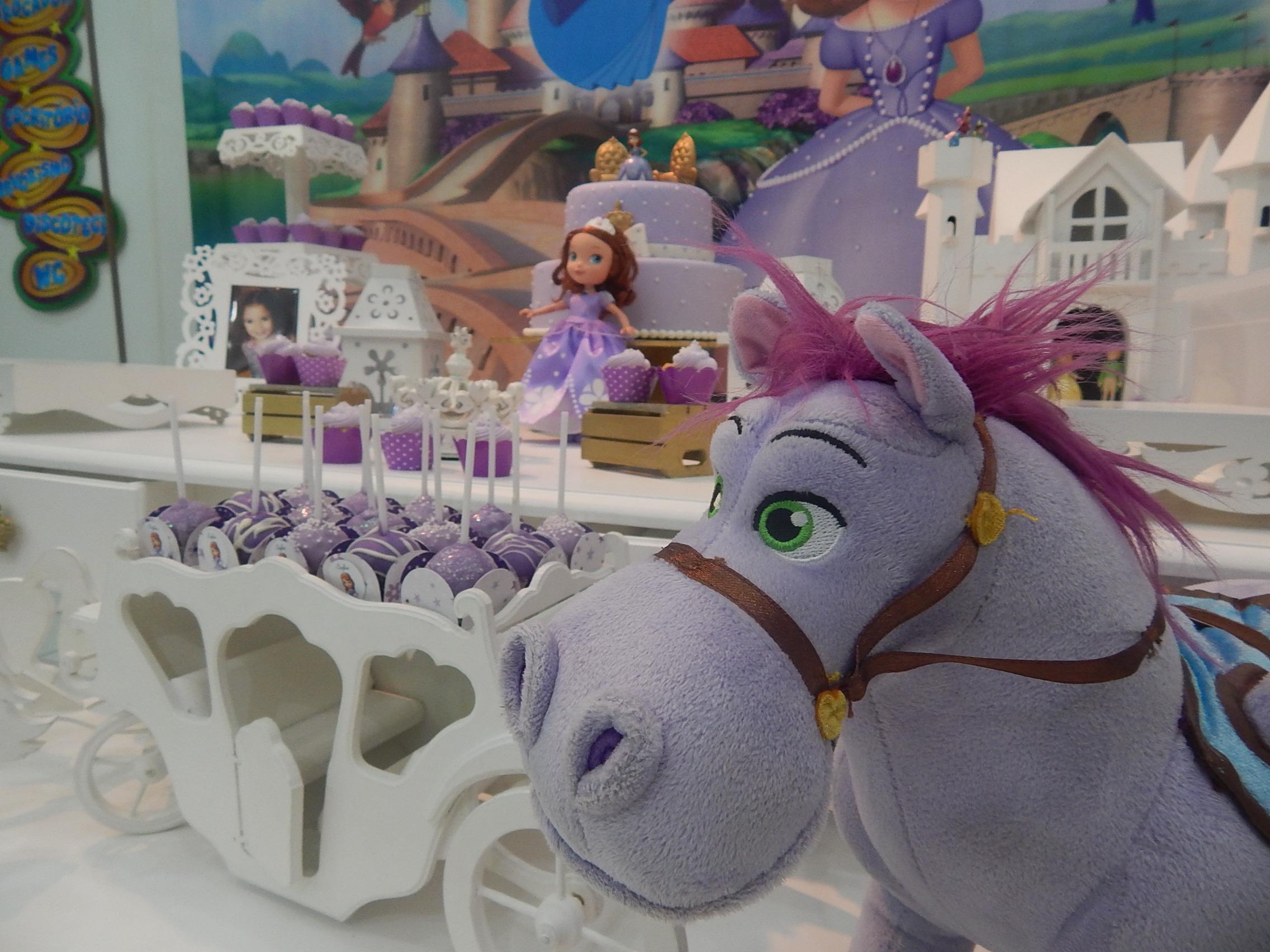 Festa clean Princesinha Sofia para a Sofia  Festa Clean